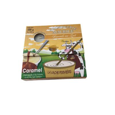 Semoule au lait entier fermier au caramel (Fromagerie maurice)