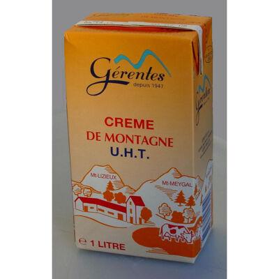 Crème liquide uht de montagne 35% de matière grasse 1l (Gérentes)
