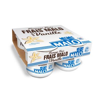 Fromage frais 7% de matières grasses sur produit fini, sucré, saveur vanille (Malo)