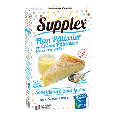 Supplex flan pâtissier ou crème pâtissière sans sucres ajoutés (Supplex)