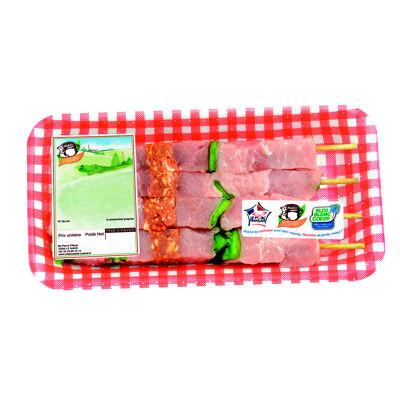 Brochettes de porc x4(drive)400g (Charcuterie cosme)