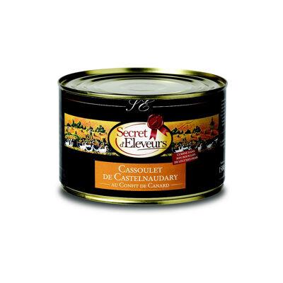 Cassoulet de castelnaudary au confit de canard- boite - origine france - secret d'eleveurs (Secret d'éleveurs)