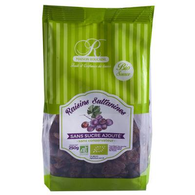Raisins sultanines moelleux bio 250g (Biosource)