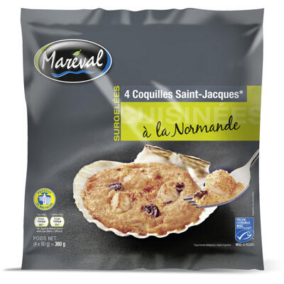 Coquille normande msc 4x90g 20% (Mareval)