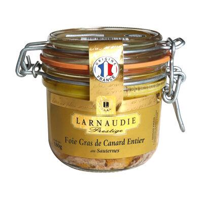 Foie gras de canard entier france au sauternes bocal 180g (Larnaudie prestige)