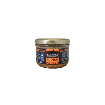 Rillettes pur canard, bocal 180grs (Sas biraben)