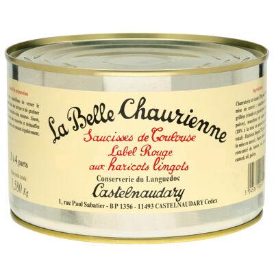 Saucisses de toulouse label rouge aux haricots lingots 2/1 (La belle chaurienne)