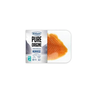 Saumon fumé norvège asc 4 tranches mini 140 grammes kritsen slice (Kritsen)