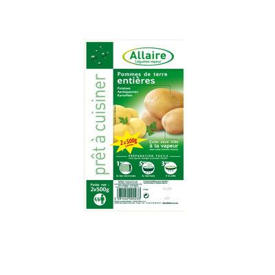 Pommes de terre entières barquette lot 2 x 500g (Allaire)