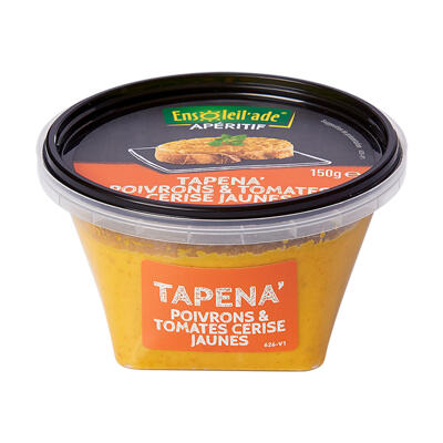 Tapena poivron jaune et tomate cerise jaune 150g ensoleil'ade (Ensoleil'ade)