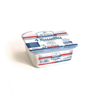 4 faisselles de fromage blanc 4x250g 4.5% mg (Lait du forez)