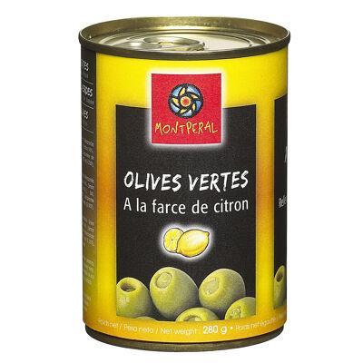 Olives vertes à la farce de citron (Montperal)
