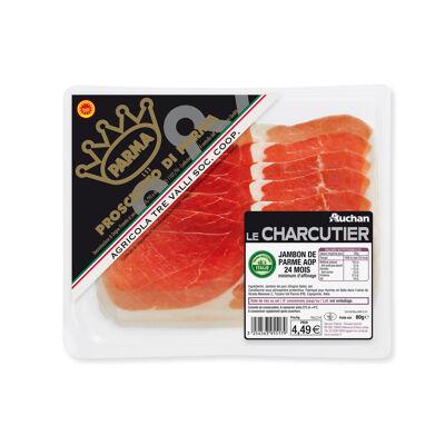 Mdd fe jbon parme 24 mois 80g auchan (Auchan le charcutier)