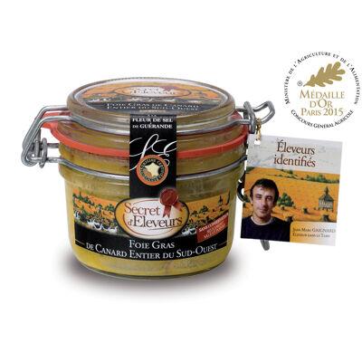 Foie gras de canard entier du sud ouest 130g - bocal - igp sud ouest - secret d'eleveurs (Secret d'éleveurs)
