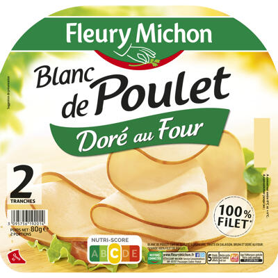 2 tr. blanc de poulet doré au four (Fleury michon)