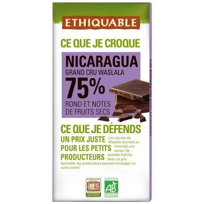 Chocolat noir 75% nicaragua bio 100g (Ethiquable)