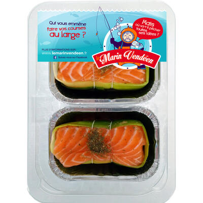 Paupiette de saumon et noix de st jacques (Le marin vendéen)