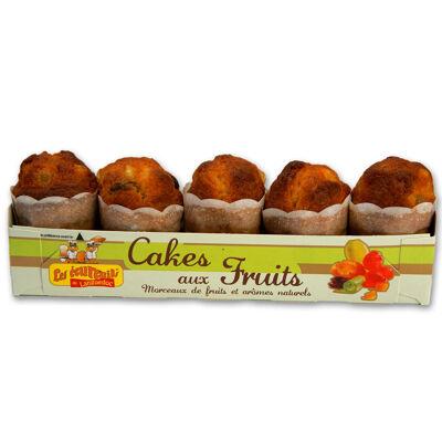 Barquette écureuils de 5 cakes aux fruits (Les écureuils du languedoc)