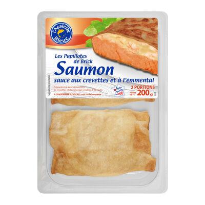 Papillote brick saumon sce emmental ass bl x2- 200g (L' assiette bleue)