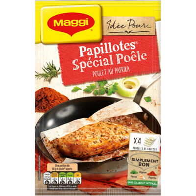 Maggi papillotes spécial poêle poulet au paprika 23,2g (Maggi)