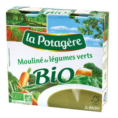 Mouliné de légumes verts bio 2x30cl (La potagère)