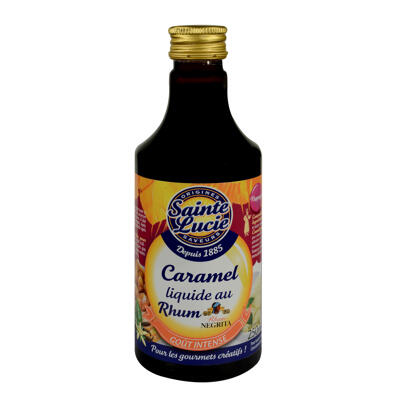 Caramel liquide au rhum (Sainte lucie)