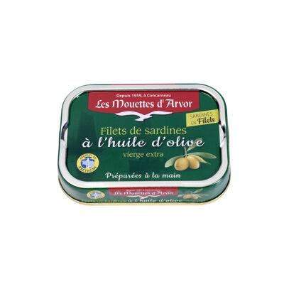 Filets de sardines à l'huile d'olive extra vierge (Les mouettes d'arvor)