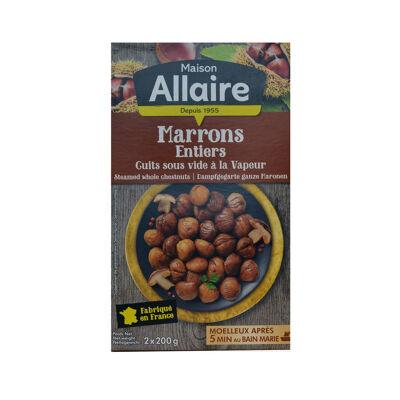Marrons entiers conventionnels étui 2 x 200g (Allaire)
