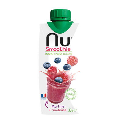 Nu smoothie - myrtille framboise - 33 cl (Nu)