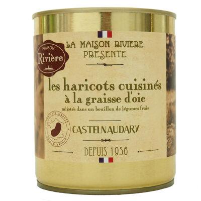 Haricots cuisines a la graisse d'oie 820g (Maison riviere)