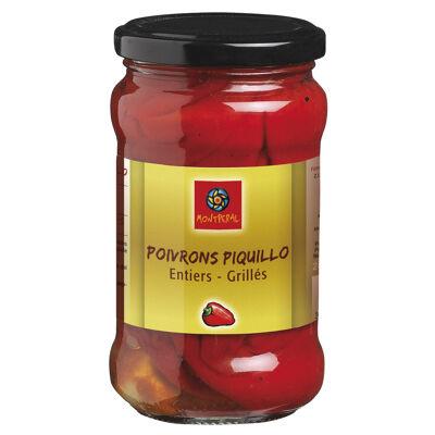 Poivrons piquillo entiers et grillés (Montperal)