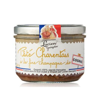 Pate charentais a la fine champagne - cognac - 220g les vieilles conserves d'autrefois (Les recettes cuites au chaudron)