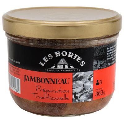 Jambonneau preparation traditionnelle bocal 363 g (Les bories)