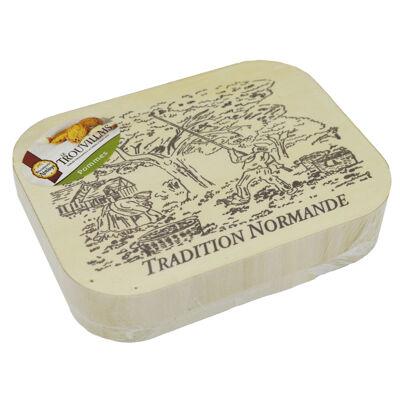 Boite tradition normande trouvillais pomme 225g (Biscuiterie de l'abbaye)