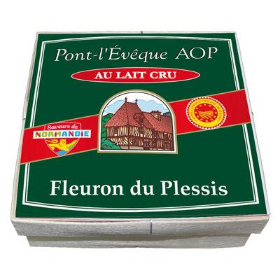 Pont l'eveque au lait cru aop 220g fleuron du plessis 24% mg/pf (Fleuron du plessis)