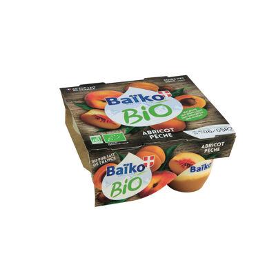 Yaourt bio bicouche abri/pech 4x125g x6 baiko (Baiko)