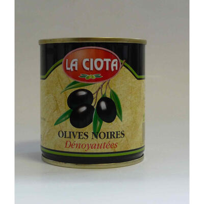 La ciota olives noires denoyautees bte 1/4 - 85 g (La ciota)