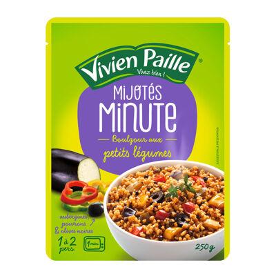 Mijoté minute boulgour aux petits légumes (Vivien paille)