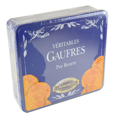 Coffret métal 700g gaufres fines pur beurre (La dunkerquoise)