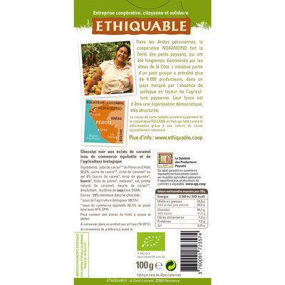 Chocolat noir caramel pointe de sel bio et commerce equitable 100g (Ethiquable)