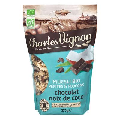 Muesli bio pépites & flocons chocolat noix de coco (Charles vignon)