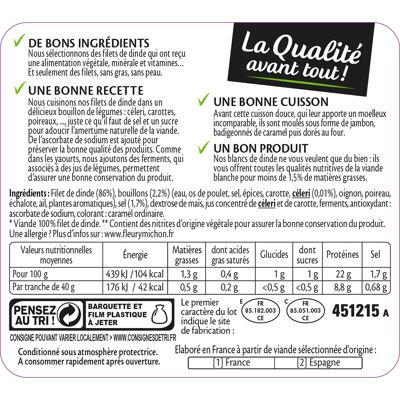 2 tr. blanc de dinde doré au four (Fleury michon)