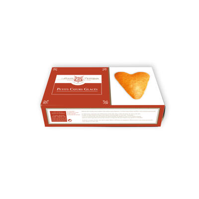Boîte de 6 cœurs dorés glacés (Mulot et petitjean)
