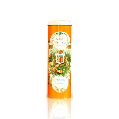 Boîte collector orange contenant 1 rouleau de 6 nonnettes orange (Mulot et petitjean)