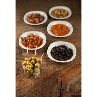 Olives vertes manzanilla aux poivrons (Bixente ibarra)