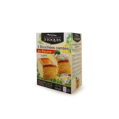 4 bouchées carrées beurre 100g (3 toques)
