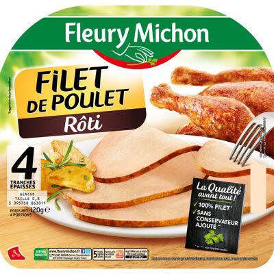 4 tr. epaisses filet de poulet supérieur rôti (Fleury michon)