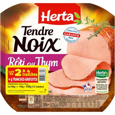 Herta tendre noix thym 4t lot 2+1 gratuit -420g (Herta)
