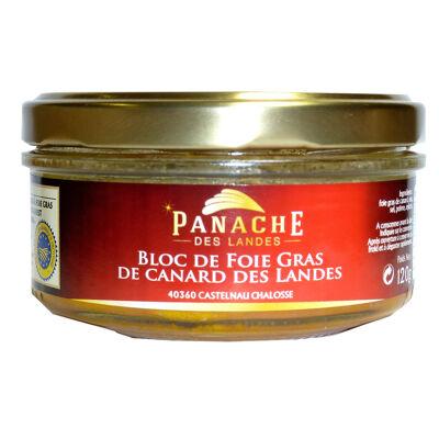 Bloc de foie gras de canard bocal 120 gr igp sud ouest (Panache des landes)