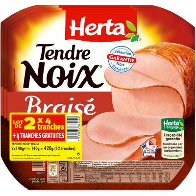 Herta tendre noix braisé 4t lot 2+1 gratuit -420g (Herta)